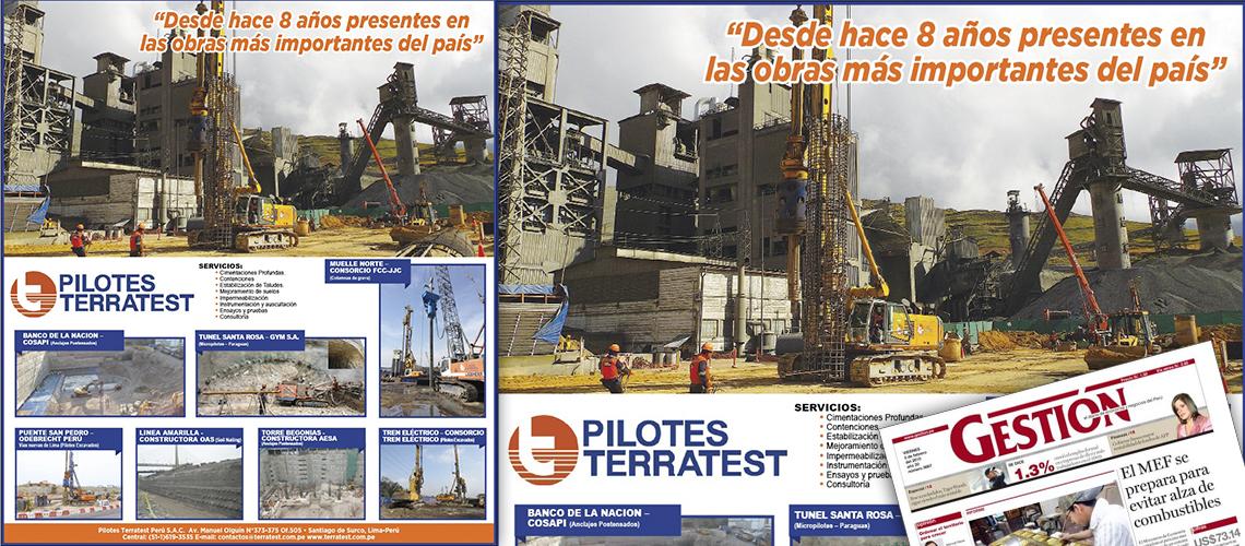 Publicación en el Diario Gestión por el Octavo Aniversario de la Empresa.