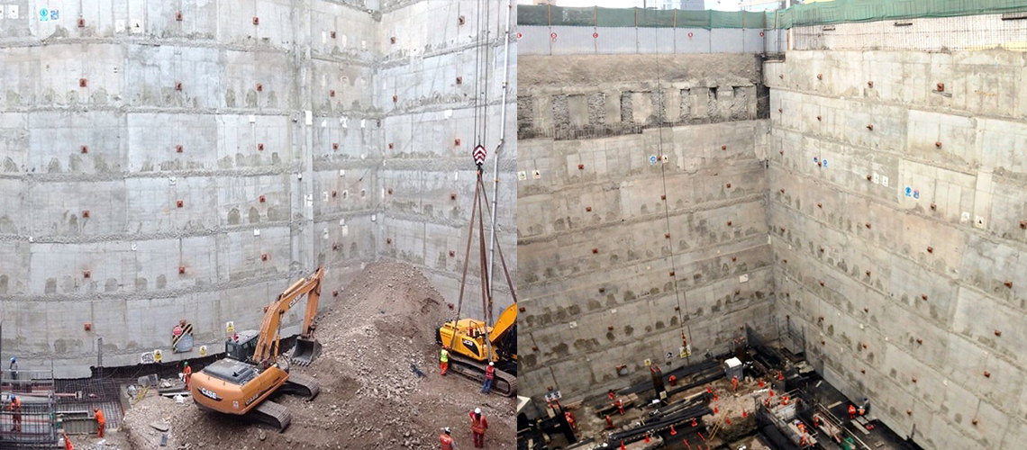 Estabilización De ICHMA, uno de los Edificios de oficinas más profundos del Perú.