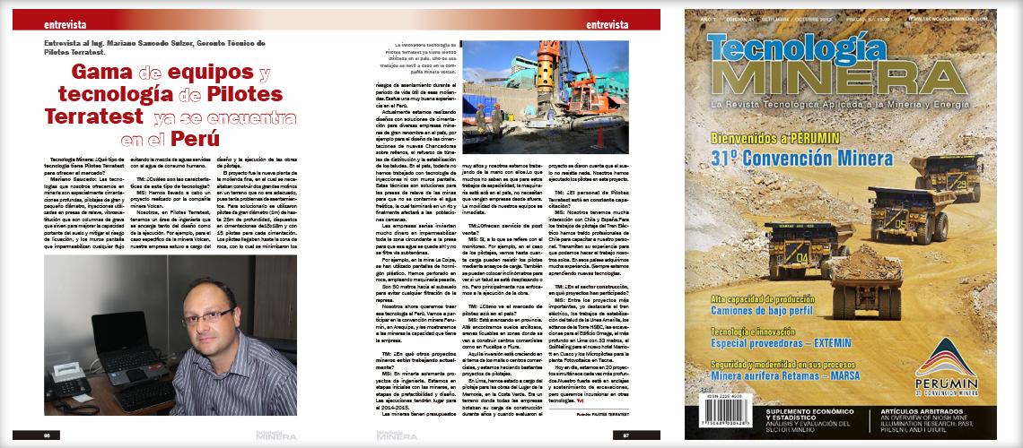 Entrevista Gerente Técnico PTP – Revista Tecnologia Minera